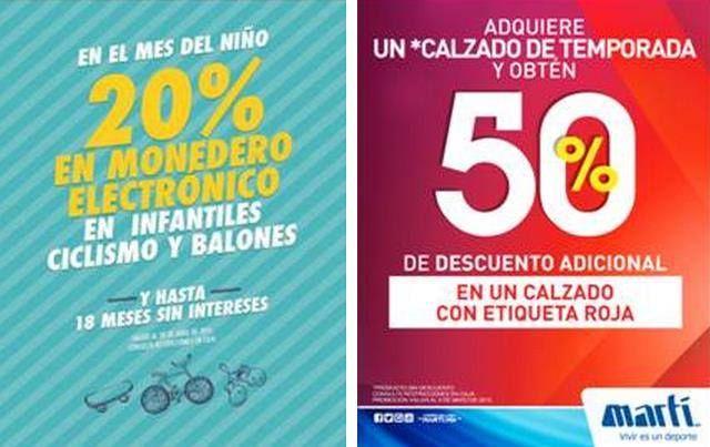 Marti: 20% en monedero electrónico en infantiles y mas
