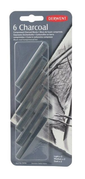 Art Shed Online - Derwent Charcoal Blocks 6 Asst., $15.95 (http://www.artshedonline.com.au/derwent-charcoal-blocks-6-asst/)