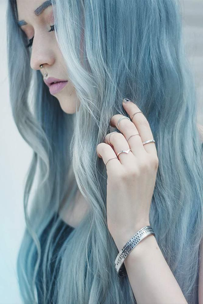 18 Best Winter Hair Colors ★ Soft Blue Colors for Amazing Winter Look Picture 2 ★ See more: http://glaminati.com/best-winter-hair-colors/ #winterhaircolors #haircolors