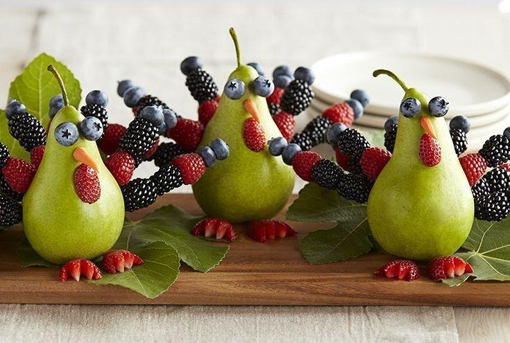 "Driscoll's A ""Pear"" of Berry Turkeys www.driscolls.com"