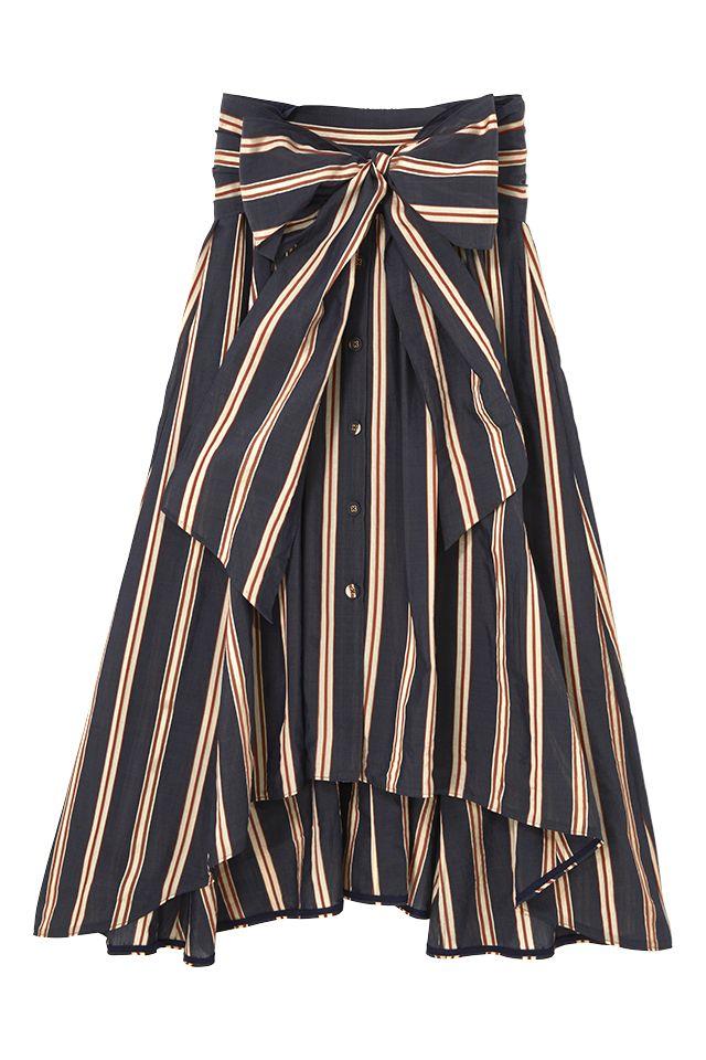 スタイリスト佐々木敬子プロデュース 大人に向けたライフスタイルブランド【MYLAN】のFront open skirt