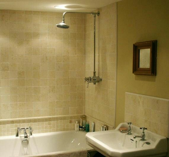 Half Tiled Bathroom Home Pinterest