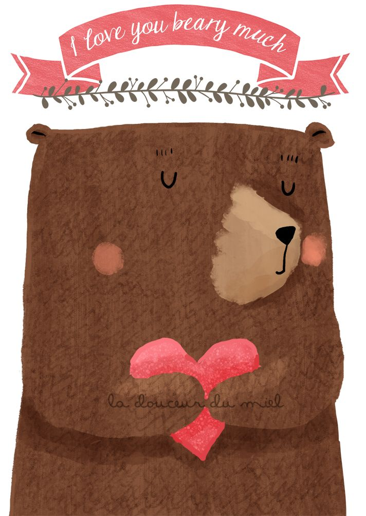 Valentine cards with bears preview
