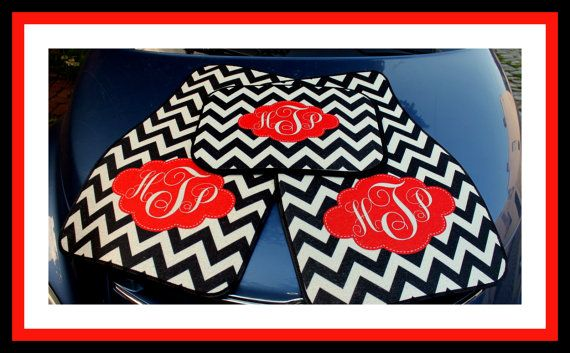 Front and Back Personalized Car Mats Monogrammed by ChicMonogram