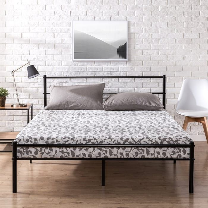 My King Size Mattress Bed Frame And Bedding All Cost Less Than 500 Metal Platform Bed Platform Bed Frame Bed Frame And Headboard
