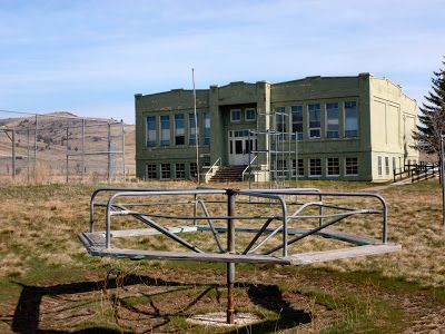"""Antelope, Oregon abandoned school. Ghost Town. courtesy of """"The Adventures of Big Bummed Girl and her Bike"""""""