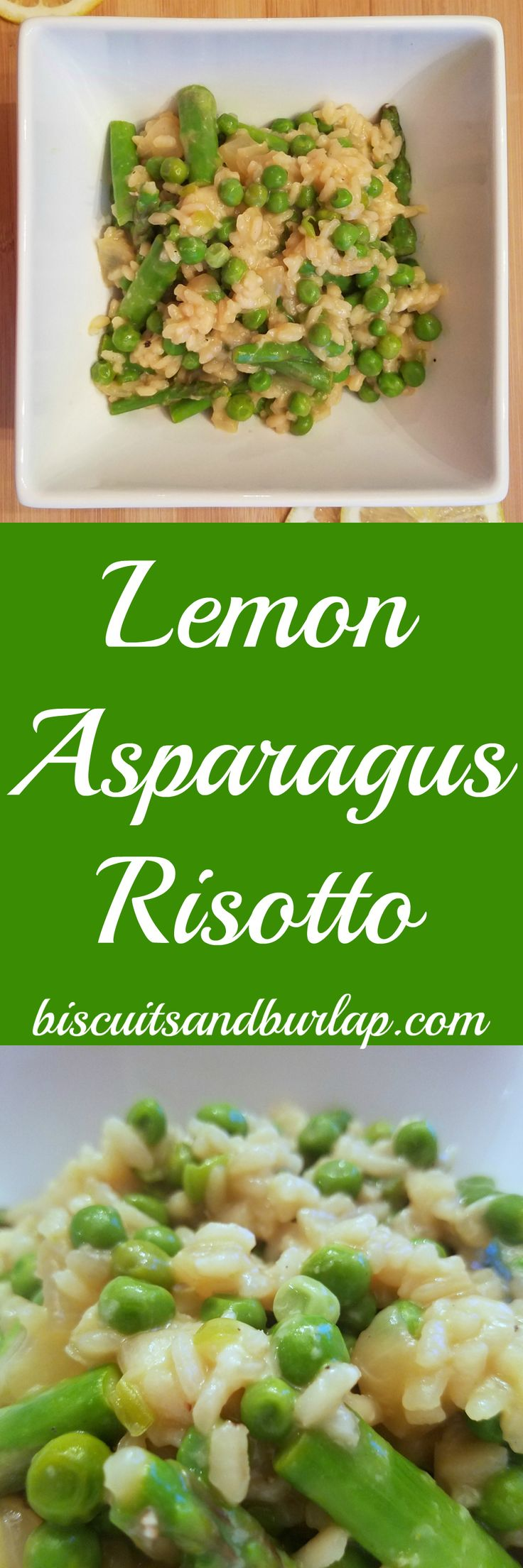 Lemon Risotto with Asparagus! This would be absolutely delicious! Wonderful as a small meal or with your choice of protein (chicken, steak, fish etc)