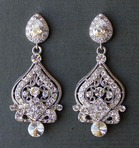 50 best bling images on Pinterest   Wedding earrings, Bridal ...