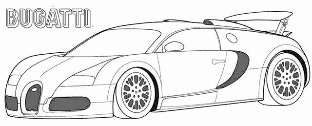 Bugatti Chiron Coloring Page Luxury Cozy Bugatti Veyron Trace Vector Drawing Illustrator In 2020 Race Car Coloring Pages Cars Coloring Pages Racing Car Images