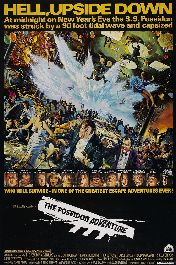 The Poseidon Adventure (1972) In the 1970's disaster movies with an all star cast was the rage. The remake of ths is nowhere near as good.