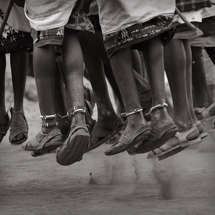 Africa. Masai jumping