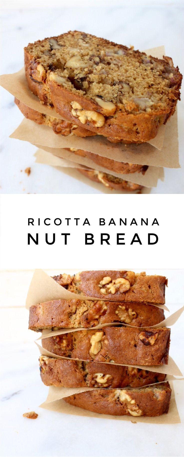 Ricotta Banana Nut Bread Recipe | CiaoFlorentina.com