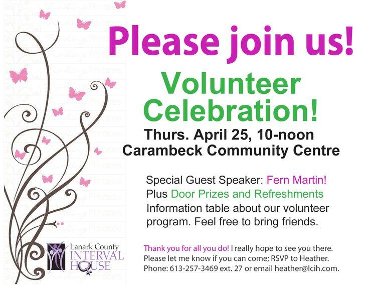 Pin On Volunteer Appreciation Invitation