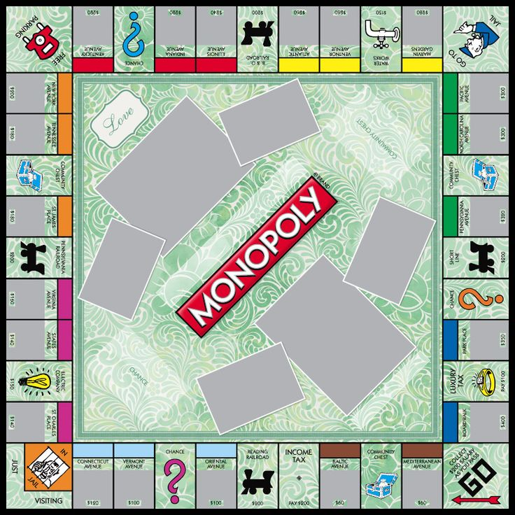 18 best monopoly game templates images on pinterest for Custom monopoly board template