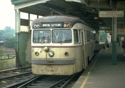 Philadelphia Suburban Transportation Company Red Arrow Line - The very last trolleys built by Philadelphia's once-great Brill Car Company were these ten suburban cars, completed in 1940.