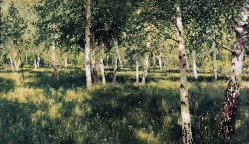 Birch grove - Isaac Levitan #Paintings #Art