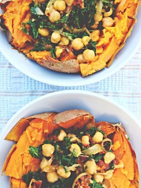 Sweet & Spicy Coconut-Kale-Chickpea Bowl | Sakara Life - News | Bloglovin'