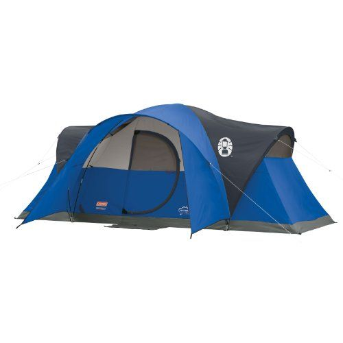 Coleman Montana 8-Person Tent, Blue - Ideal for outdoorsy families and extended camping trips, the Coleman Montana 8 Tent offers a full feature set for a fun family camping experience. It sleeps up to eight comfortably, thanks to a generous 16-by-seven-foot (W x D) layout and spacious center height of six feet, two inches. An innovat...