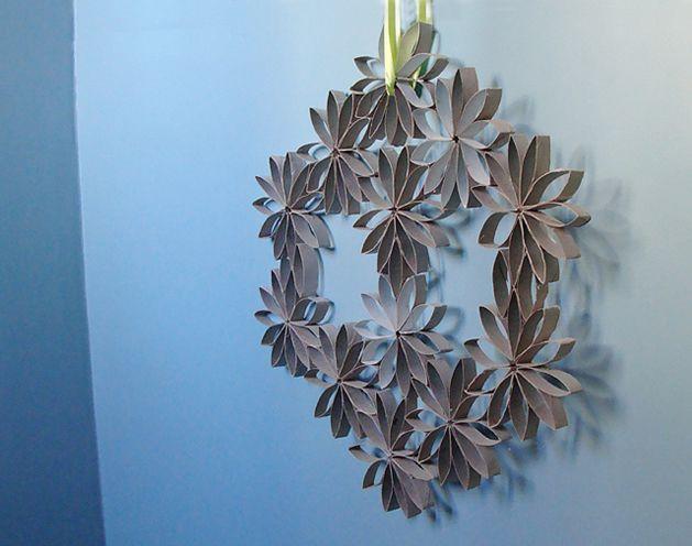 Reciclagem de rolo de papel higiênico para decorar