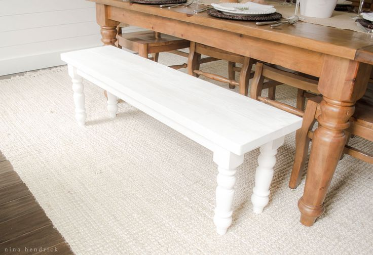 This simple farmhouse bench is a great beginner build and a perfect project for enlisting young helpers. Includes free building plans!