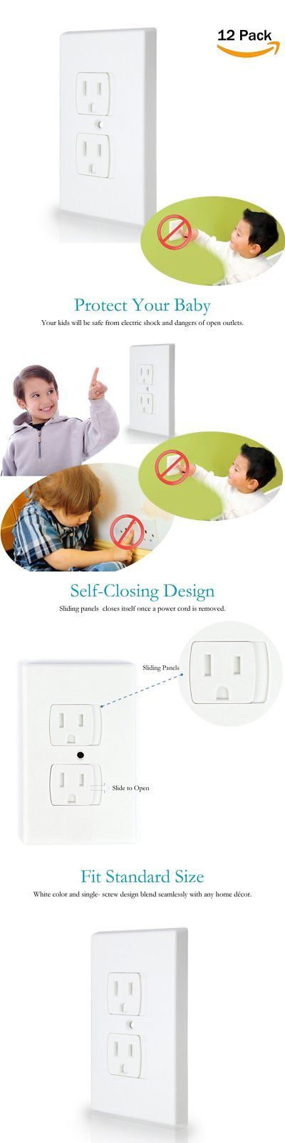 Outlet Covers 134764: Baby Safety Self-Closing Electrical Outlet Covers | Alternative To Wall Socket P -> BUY IT NOW ONLY: $40.37 on eBay!