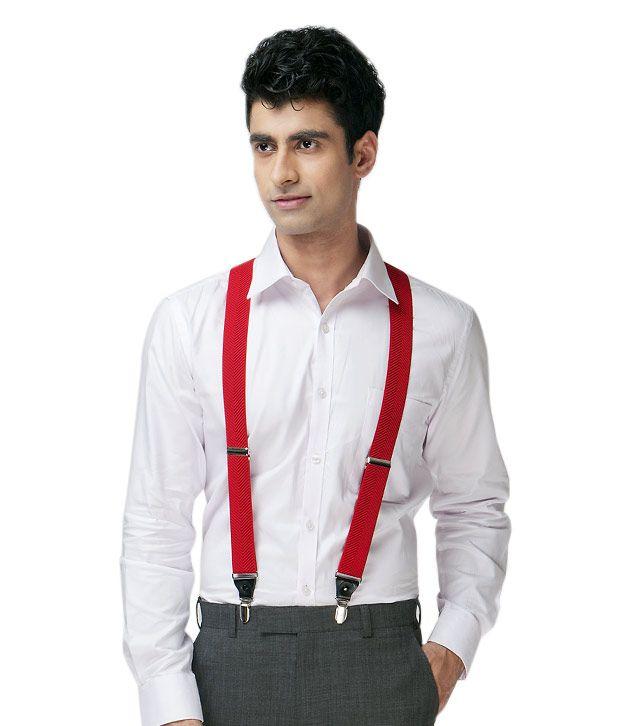 Lino Perros Fashionable Red Suspender