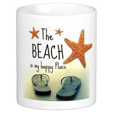 Beach Happy Quote Flip Flops Mug: http://ocean-beach-quotes.blogspot.com/2015/01/beach-happy-quote-flip-flops-mug.html