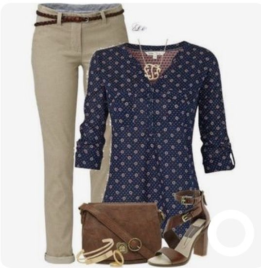 Very simple and clean. Really need some khaki pants like this and some brown accessories