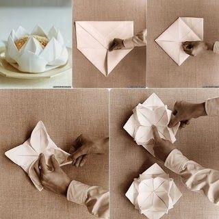 Çiçek Şeklinde Kumaş Peçete Katlama - Resimli Anlatım