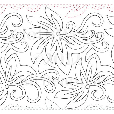"Batik - Paper - 11"" - Quilts Complete - Continuous Line Quilting Patterns"