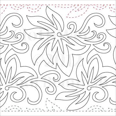 """Batik - Paper - 11"""" - Quilts Complete - Continuous Line Quilting Patterns"""