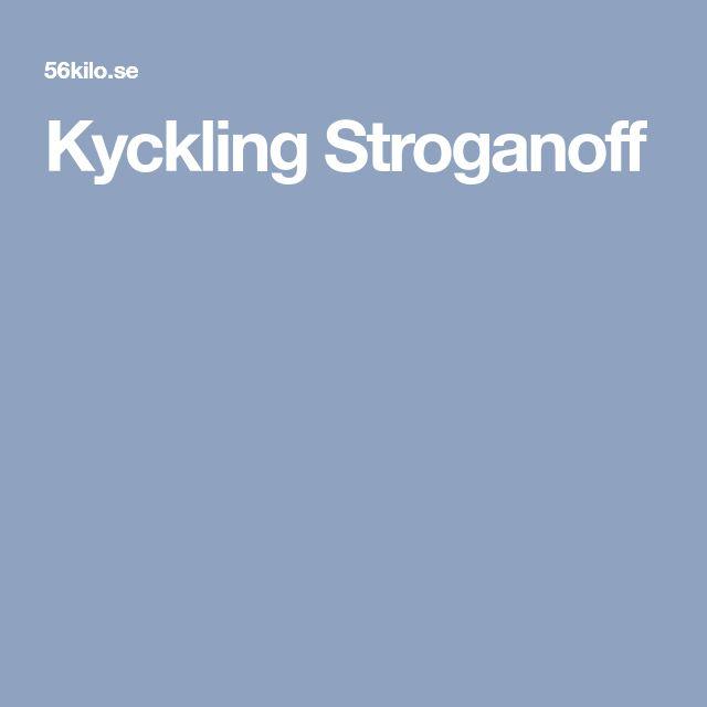 Kyckling Stroganoff