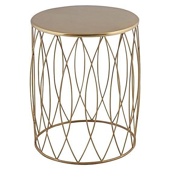 Alfie Gold Side Table by j.elliot HOME