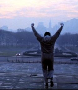 "In honor of my ""Rocky run"" day!"