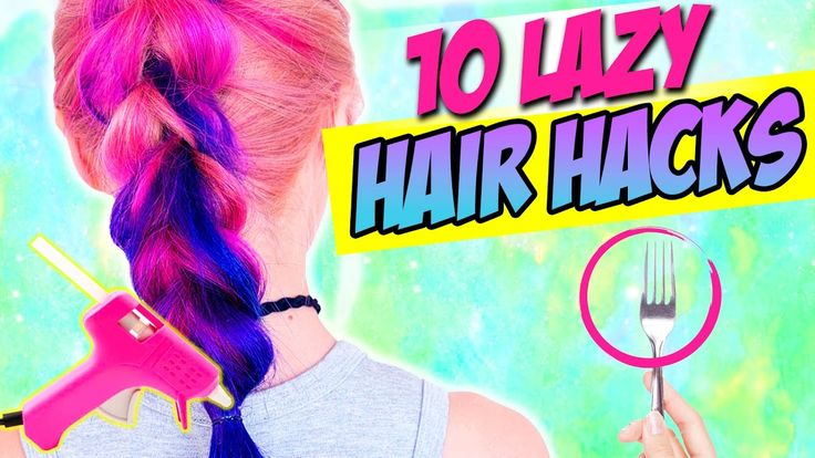 10 HAIR HACKS EVERY LAZY PERSON SHOULD KNOW!!! AWESOME LIFE HACKS FOR HAIR!