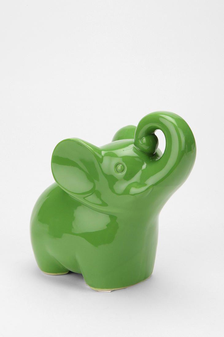 Green Elephant Bank: $12 #Elephant_Bank