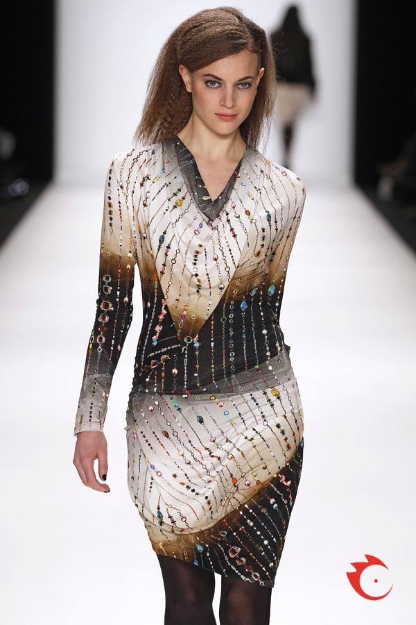 anja gockel - jersey dress with allover cristal print