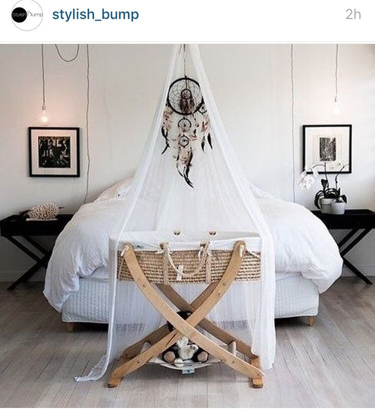 Lovely Moses basket set up