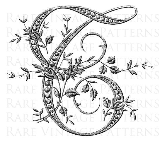 FRENCH ALPHABET STENCIL Large Letter - T - Monogram Initial Png Transparent and Jpg White Background Images Hand Embroidery Sewing Pattern