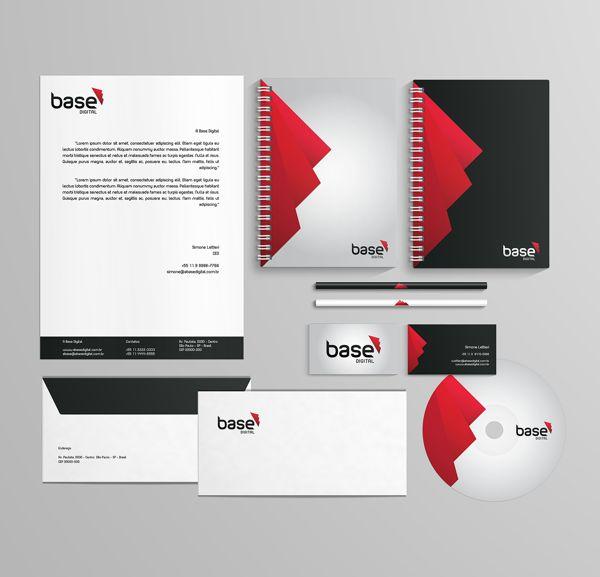 Papelaria para A Base Digital #branding #graphicdesign