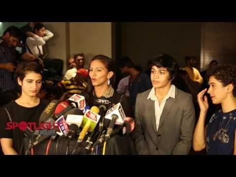 Sanya Malhotra, Fatima Sana Shaikh, Geeta Phogat, Babita Kumari At Speci...