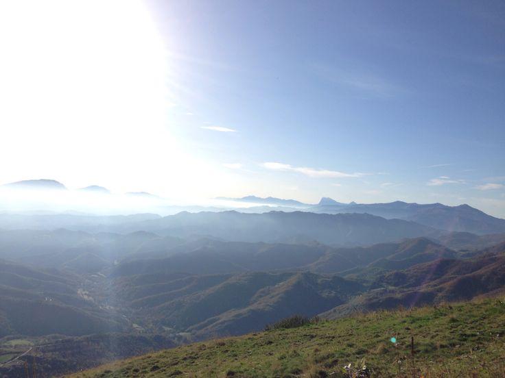 Monti sibillini vista vettore