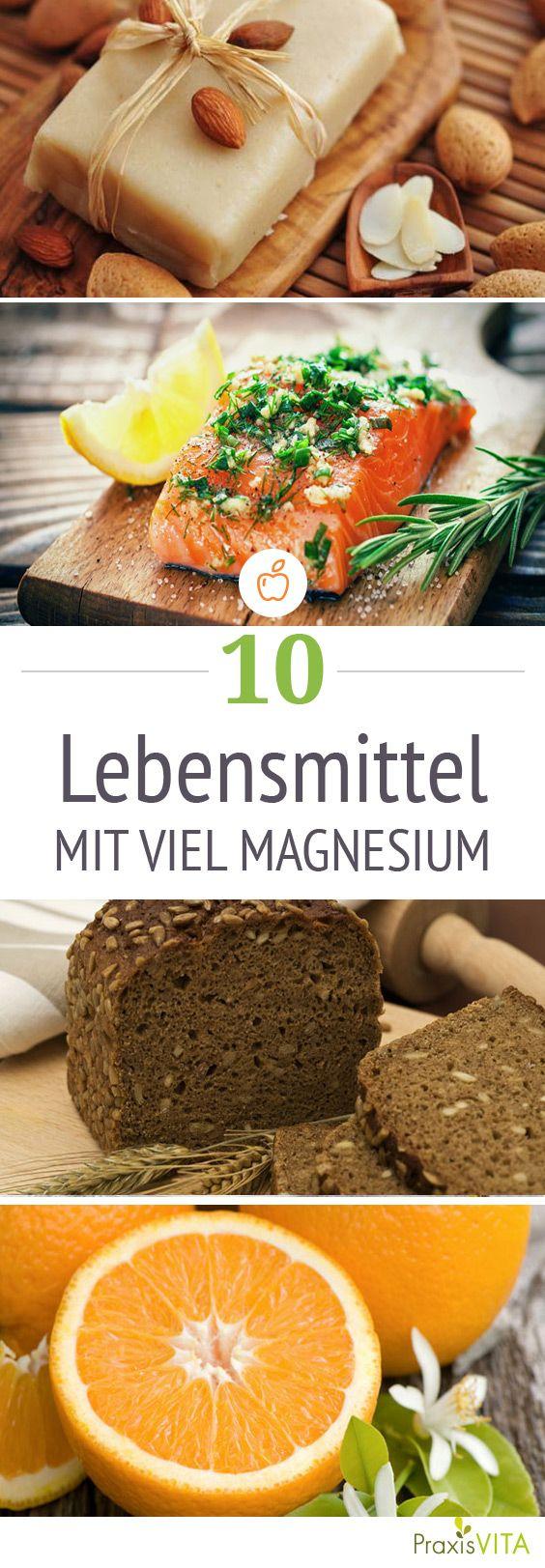 Es gibt Lebensmittel, die stärker magnesiumhaltig sind als andere. Achten Sie bei Ihrem Speiseplan darauf, sie regelmäßig einzubauen.