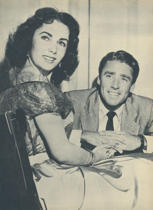 Elizabeth Taylor and Peter Lawford