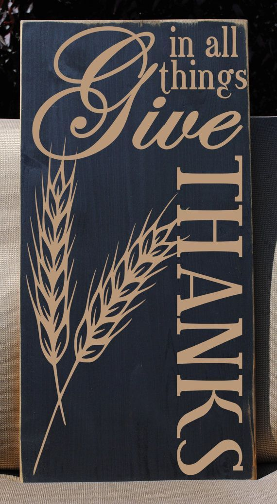 """awesome In All Things Give Thanks Vinyl Wooden Subway Art Sign 12""""x24"""".  Fall Thanksgiving decor, farmhouse decor, rustic wood sign, country home. by http://www.danaz-homedecor.space/country-homes-decor/in-all-things-give-thanks-vinyl-wooden-subway-art-sign-12x24-fall-thanksgiving-decor-farmhouse-decor-rustic-wood-sign-country-home/"""
