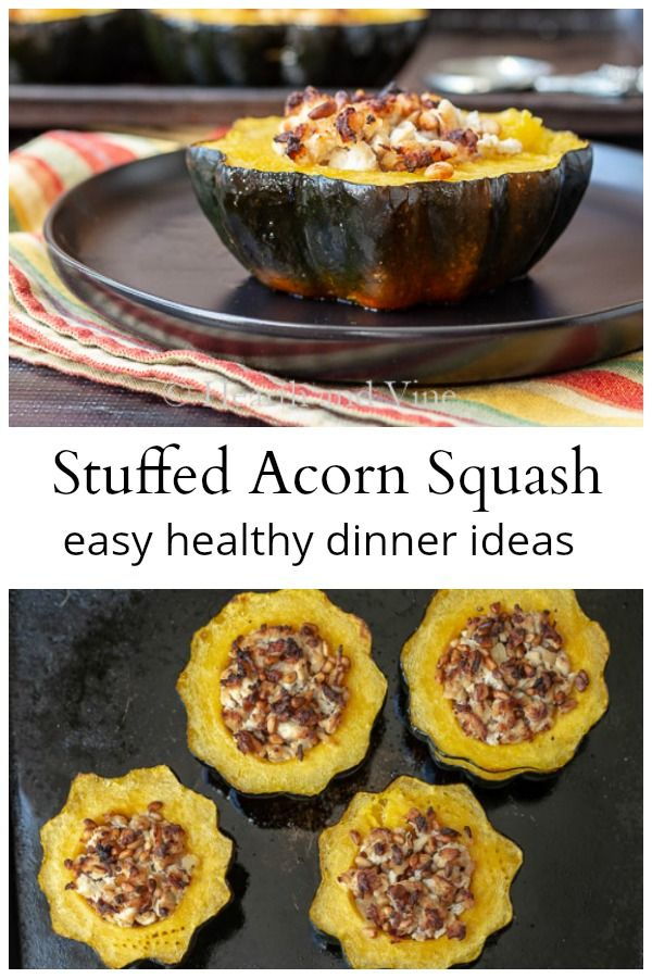 Stuffed Acorn Squash With Turkey And Pine Nuts Recipe Acorn