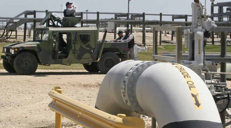 Oil targets $50 as glut lessens and dollar weakens  http://pronewsonline.com  Private security contractors patrol the U.S. Department of Energy's Strategic Petroleum Reserve in Bryan Mound, Texas © Donna W. Carson