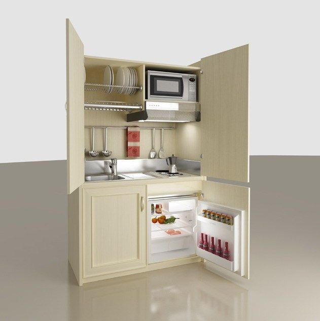 Wooden mini kitchen with doors Cristina Collection by MOBILSPAZIO Contract