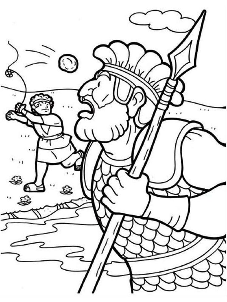 6 David and Goliath Coloring Page Printable david and