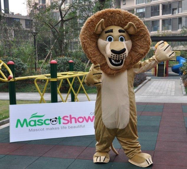 アレックス着ぐるみ(マダガスカル)、手作りのライオン着ぐるみを格安販売-MascotShows.jp